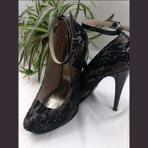 Shi by journey lace stones heels sz 8